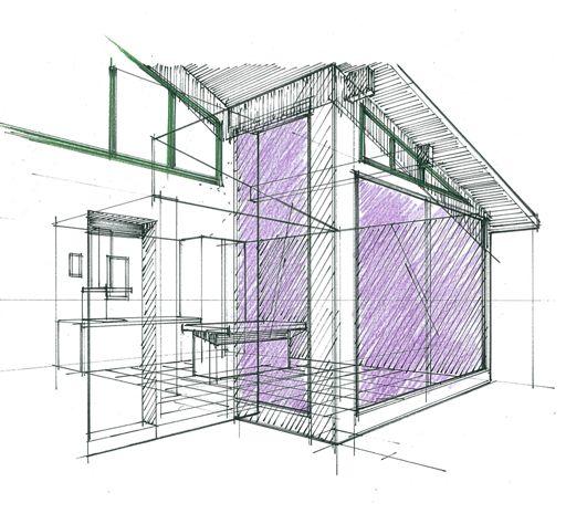 Perspective maison Basque extension Philippe Ponceblanc Architecte d - plan d interieur de maison