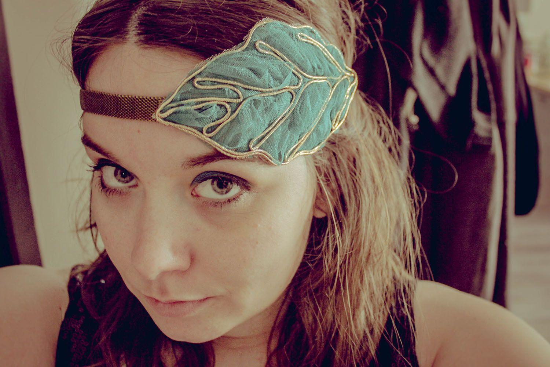 """head band """" Blue flora """" Vinage, rétro & romantique : Accessoires coiffure par sunshine59"""