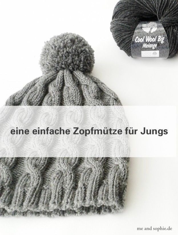 einfache zopfmütze für jungs 04 | stricken für den Winter ...
