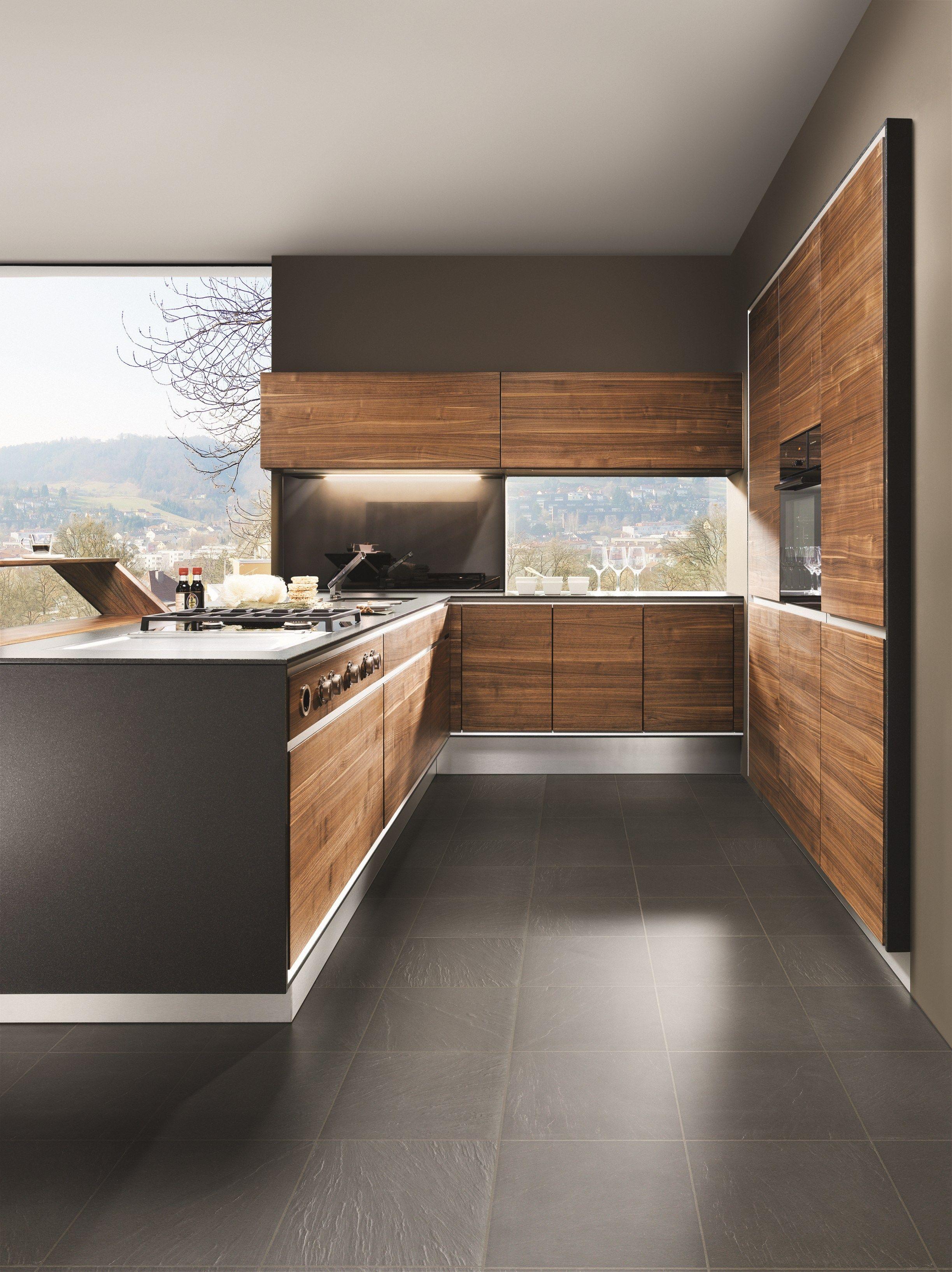 cocina de madera maciza con isla vao by team 7 nat rlich