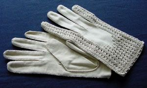 crochet cotton gloves