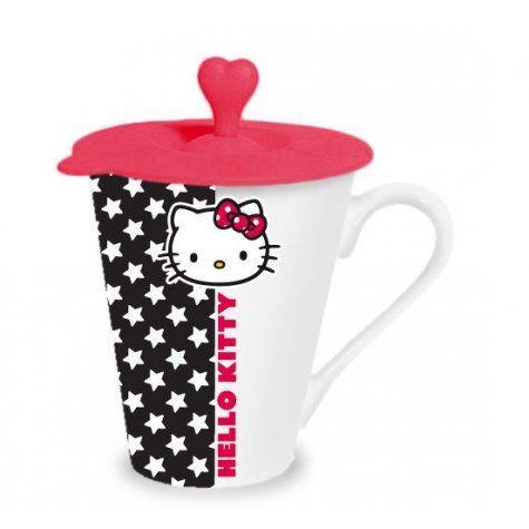 Tasse avec couvercle HELLO KITTY ROSE sur Izaneo