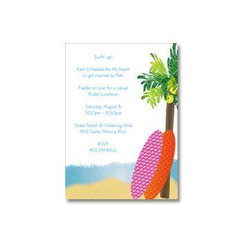 Surfer Girl Invitations. Summer birthday party!
