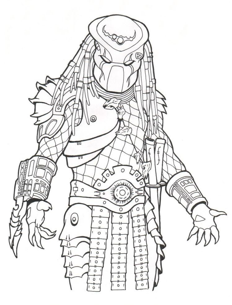 predator coloring pages # 10