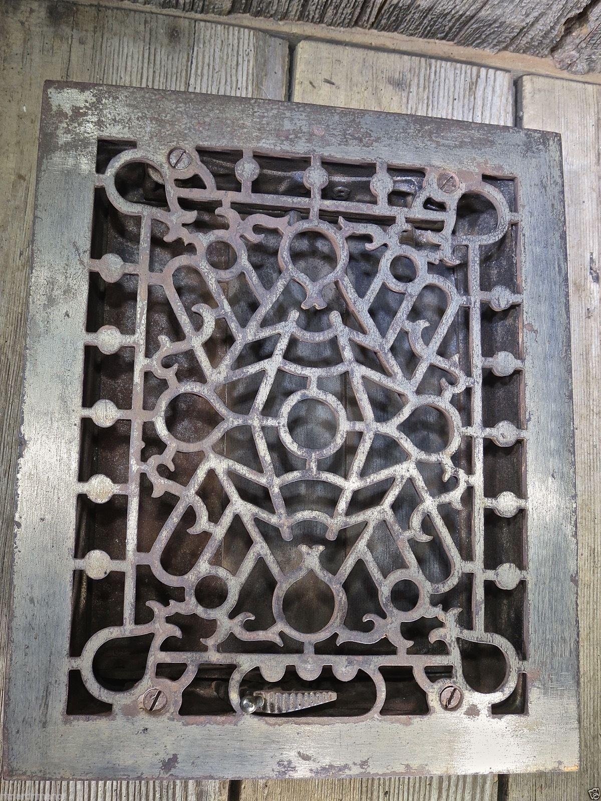 Heat Air Grate Register Vent Louver Old 9 5 8 X 11 Vintage Clean Cast Iron Ebay