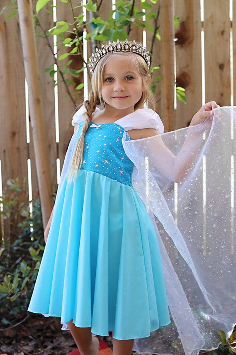 Elsa dress, Elsa costume, Frozen party, princess dress
