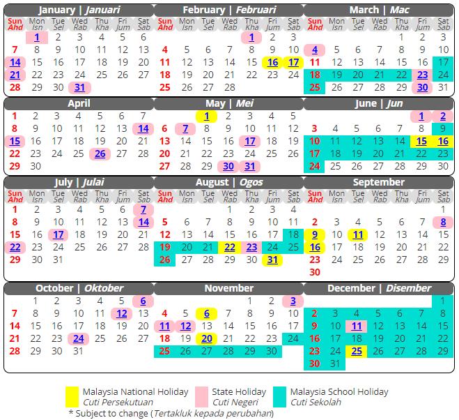 Free Printable School Holidays 2019 Calendar Malaysia Templates In 2020 School Holiday Calendar Academic Calendar School Calendar