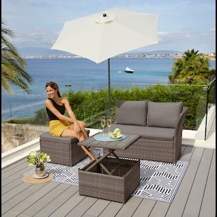 Konifera Loungeset Marseille Premium 7 Tlg 2er Sofa 1 Hocker Tisch 57x57x36 63 Cm Polyrattan Bestellen Baur In 2021 2er Sofa Polyrattan Tisch Hohenverstellbar