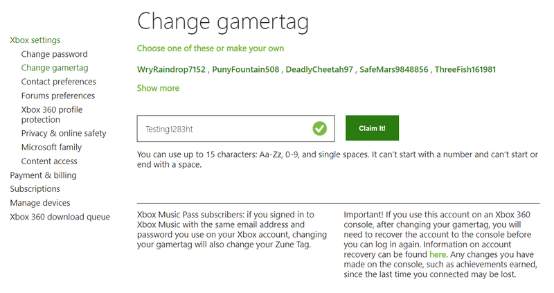 How To Change Your Xbox One Gamertag Xbox One Xbox You Changed