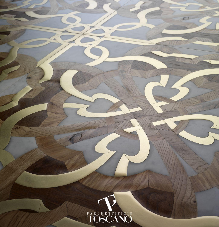 Teak Parquet Flooring Marble Oiled Natural Stone Inlaid