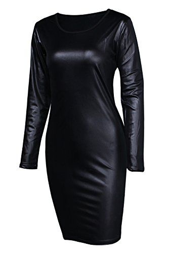 50aaef2223cd This faux leather party midi dress is a super sexy Addition to any girls  wardrobe,