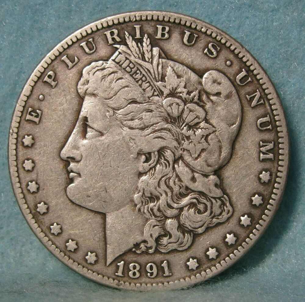 1891 Cc Carson City Mint Morgan Silver Dollar Solid Vf Us Coin With Images Morgan Silver Dollar Coins Silver Dollar
