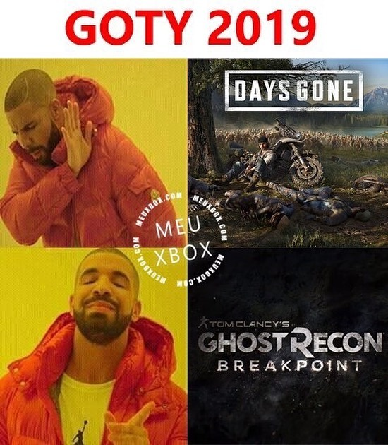 Ps4 Daysgone Vs Ghostreconbreakpoint Goty Memes Xbox Ps4