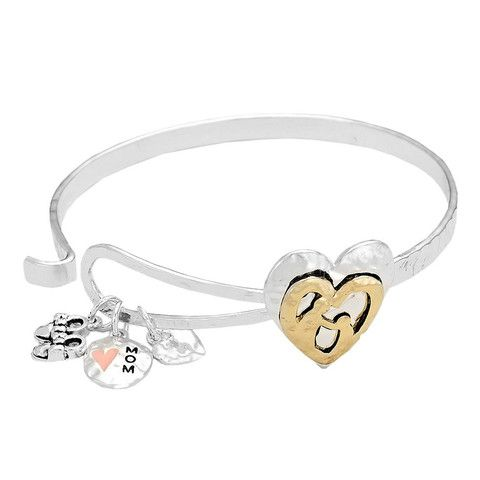 Rosemarie Collections Women's Mom Charm Bangle Bracelet GdcujQQ7