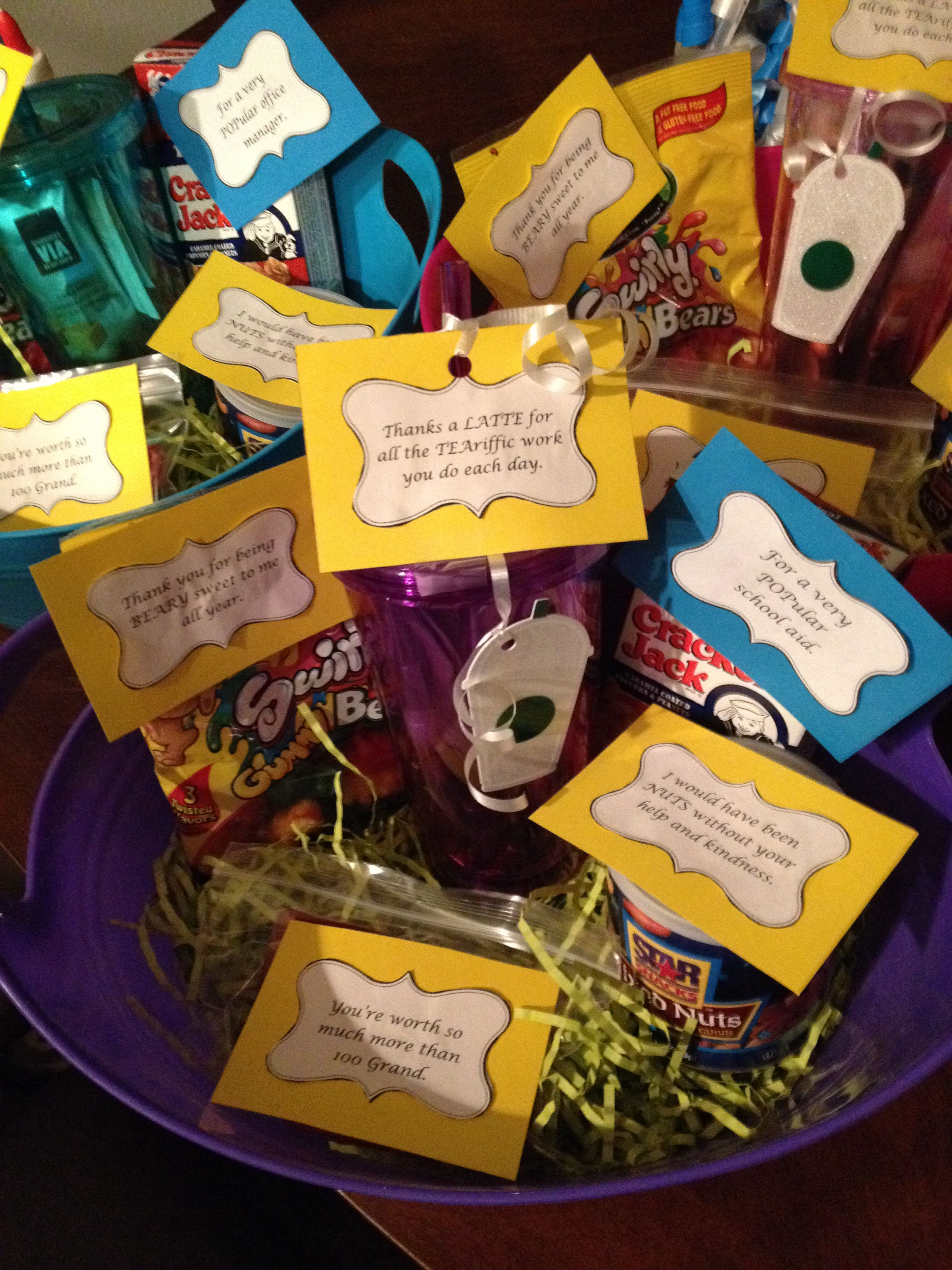 office staff appreciation gift | classroom ideas | pinterest | staff