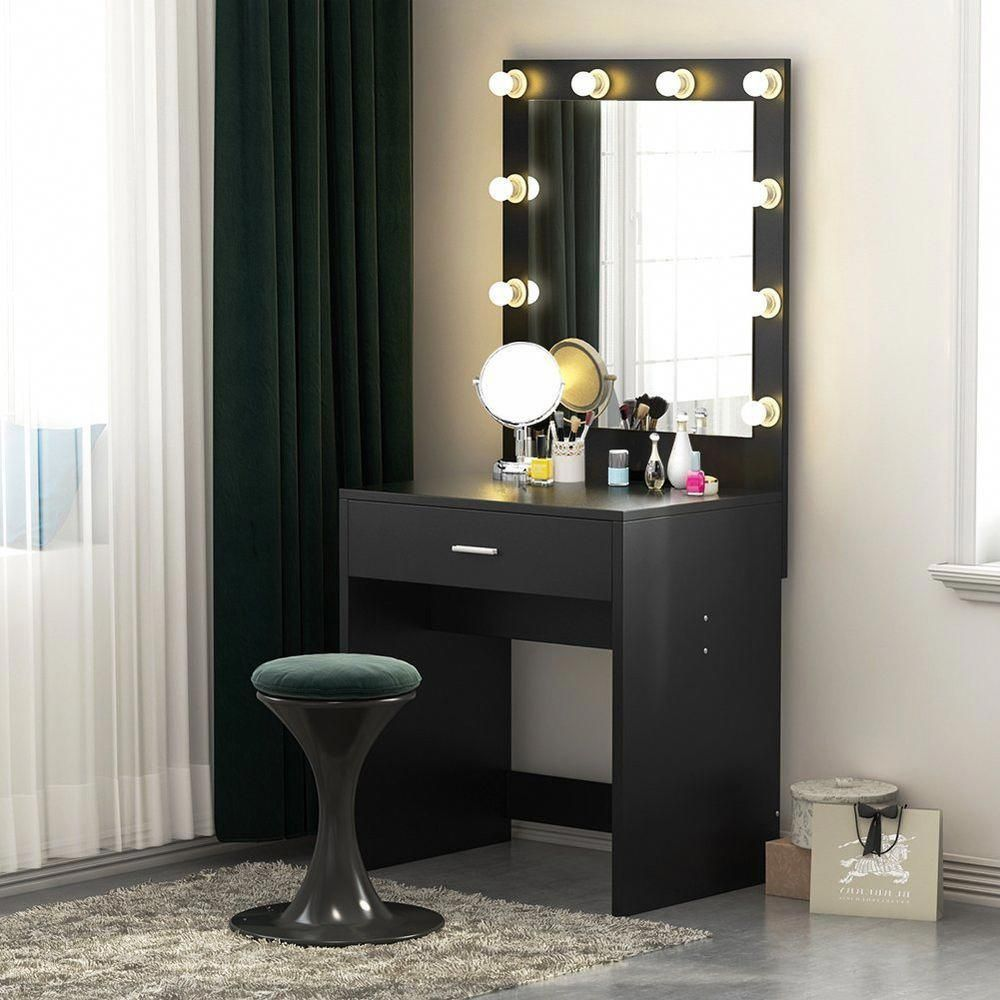 Details About Tribesigns Vanity Set With Lighted Mirror Makeup Dressing Table With 10led Light Vanity Table Set Bedroom Makeup Vanity Lighted Vanity Mirror