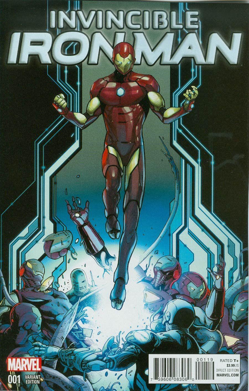 Invincible Iron Man Vol 2 1 Valerio Schiti Young Guns Variant Cover Iron Man Art Iron Man Iron Man Armor