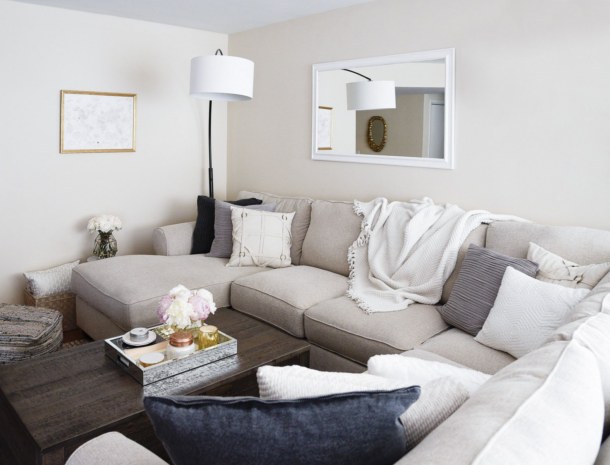 Living Room Reveal with Ashley HomeStore | Pinterest | Comfortable ...