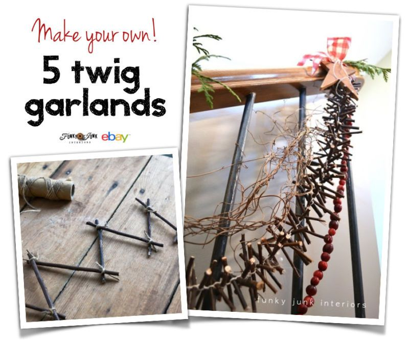 How to make 5 easy and unique twig garlands for Christmas