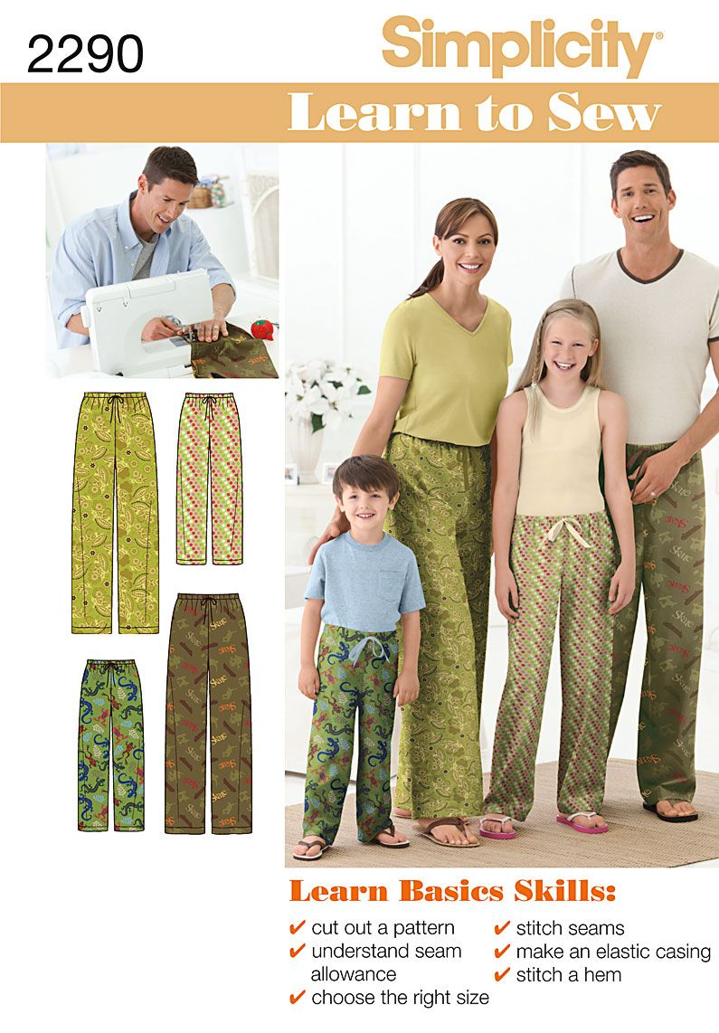 Make these #comfy #pyjamas with #learn to #sew #Simplicity #pattern 2290