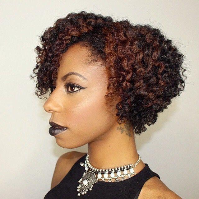 Love This Bob Cut And Color Natural Hair Hair Styles