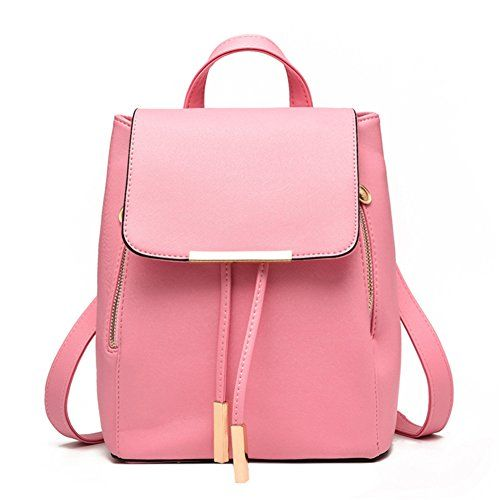 Casual Purse Fashion School Leather Backpack Shoulder Bag Mini Backpack for Women & Girls