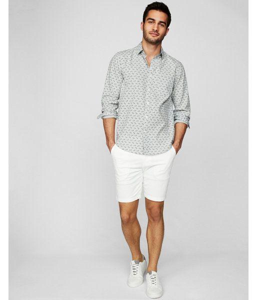 6bfbe884 Big & Tall Classic Soft Wash Floral Print Dress Shirt Gray Men's XXL ...