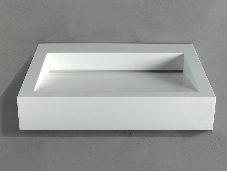 Corian Waschbecken lavabo rectangular suspendido de corian gap to wall 04 by rifra