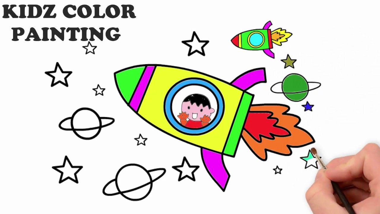 Kids kidsdrawing drawing drawinglessons rocket drawingrocket