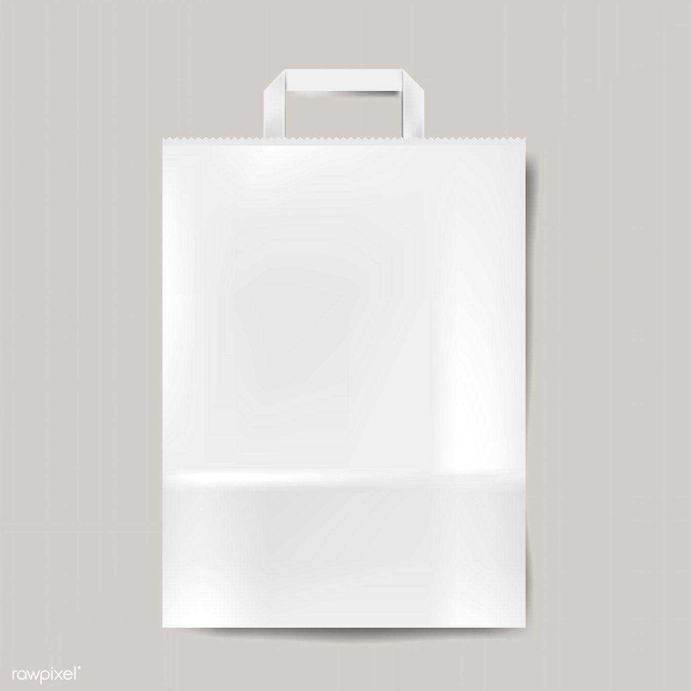 Download Paper Bag Mockup Isolated Vector Free Image By Rawpixel Com Bag Mockup Graphic Design Mockup Paper Bag