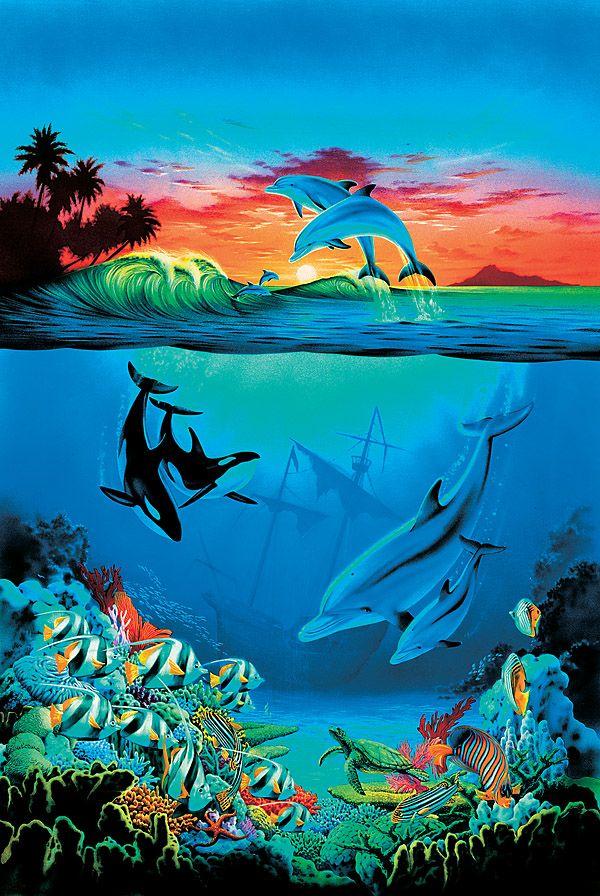 Kids Murals (With images)   Sea murals, Ocean mural ...