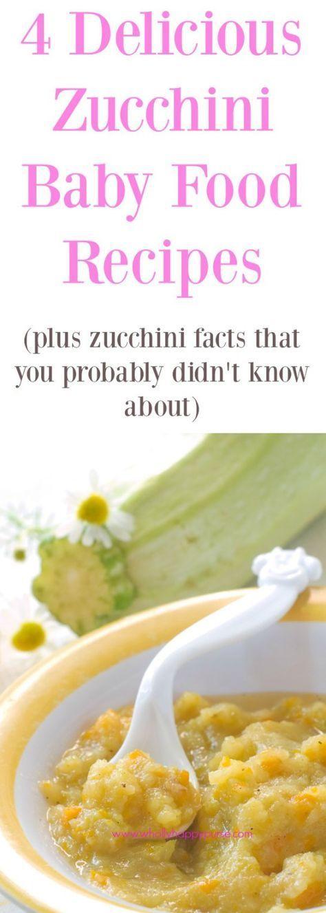 Homemade Zucchini Baby Food Recipes | Baby food recipes ...