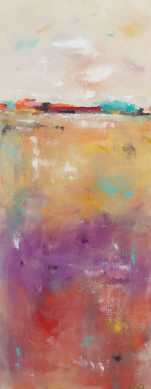 Colorful Abstract Seascape Landscape Colorful by lindadonohue, $375.00