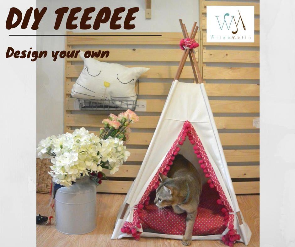 DIY Pet bed teepee tent various sizesdog bedscat bedsrabbit & DIY Pet bed teepee tent: various sizesdog bedscat bedsrabbit ...