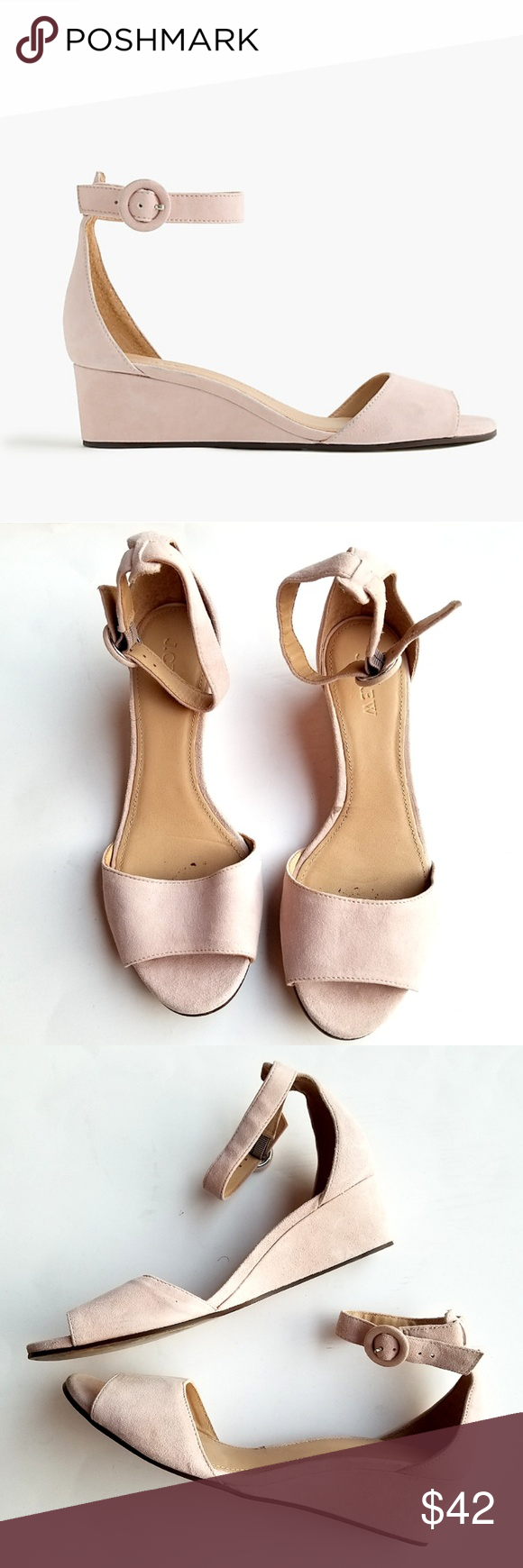 5a942ad84c63 J.Crew Laila Wedges in Suede Slightly stacked and so easy to walk in