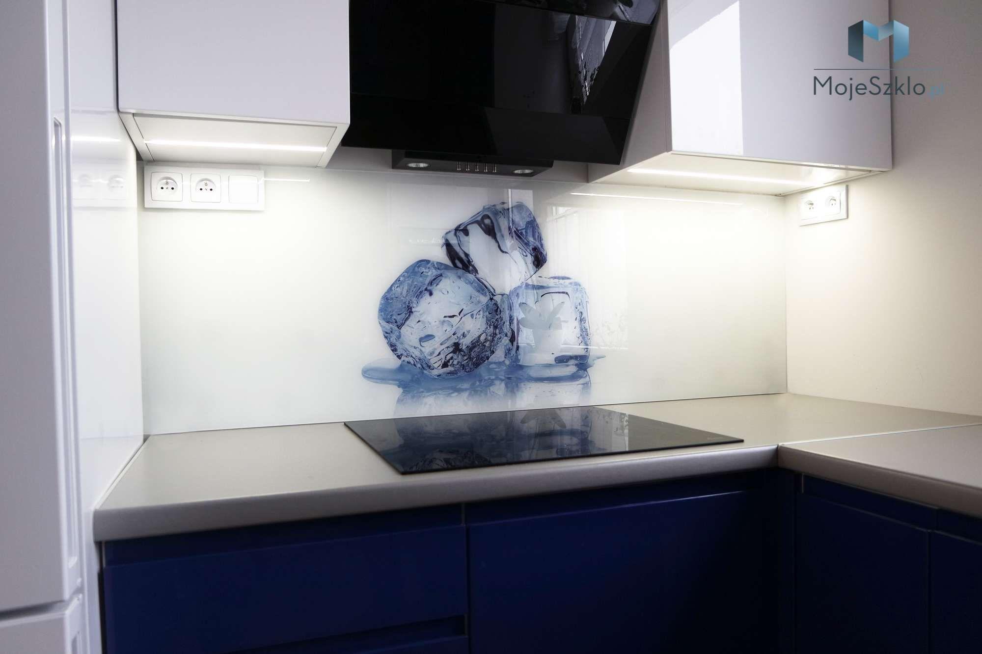 Szklane Panele Kostki Lodu Home Decor Ironing Center Storage