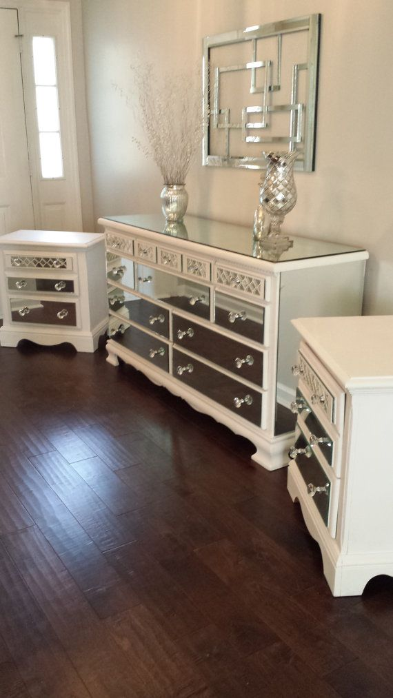 This Specific Mirrored Dresser And Nightstand Set Was Designed For A Custom Order And Has Already Sold Ho Dresser With Mirror Matching Nightstands Bedroom Set
