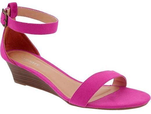 Women's Sueded Wedge Sandals