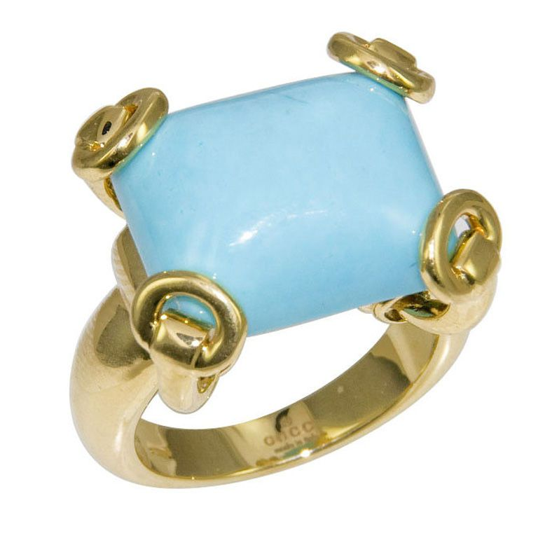 1stdibs - Modern 18K and Turquoise Ring by Gucci explore items from 1,700  global dealers at 1stdibs.com