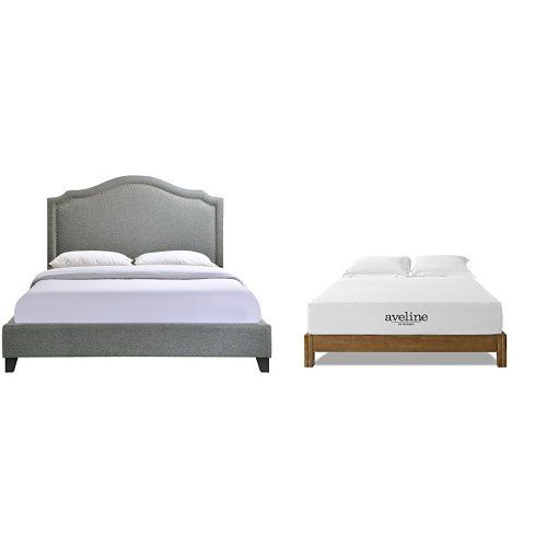 Modway Charlotte Queen Bed In Gray With, Charlotte Queen Bed