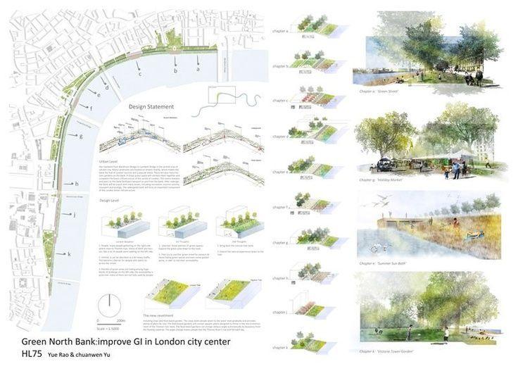 Landscape Architecture Competition Boards Architecture Design