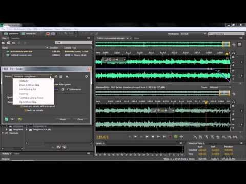 ▷ Adobe Audition CC Tutorial | Working With The Pitch
