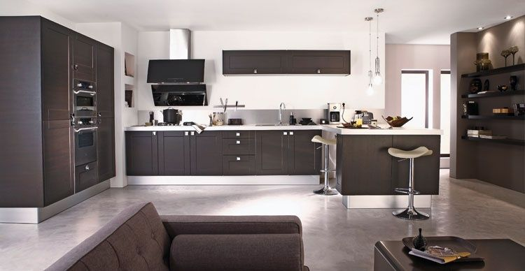 belle cuisine moderne aux lignes pur es kitchen pinterest cuisine and decoration. Black Bedroom Furniture Sets. Home Design Ideas