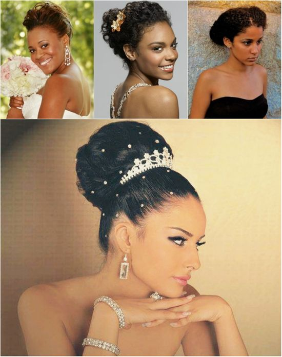 African American Black Bride Wedding Hair Natural Hairstyles Easy Updo By Clip In Extensions