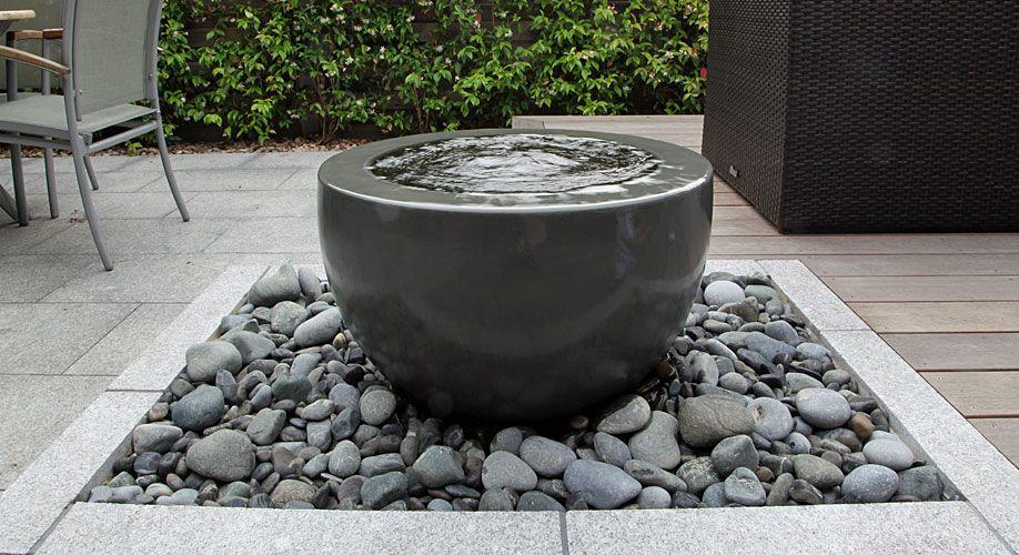 Contemporary Water Bowl Fountain Rosemarycoldstream Uk 400 x 300