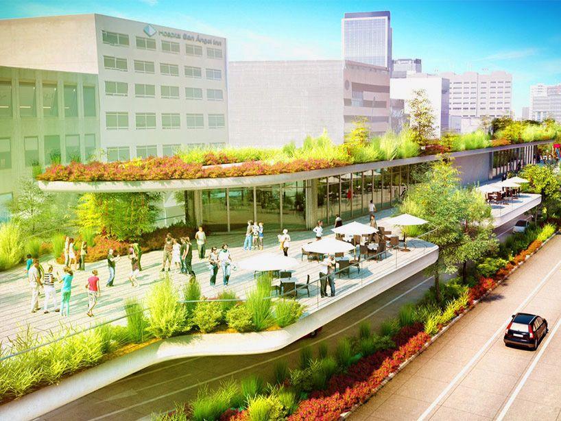 Fernando romero reveals a new linear park for mexico city for Linear architecture design