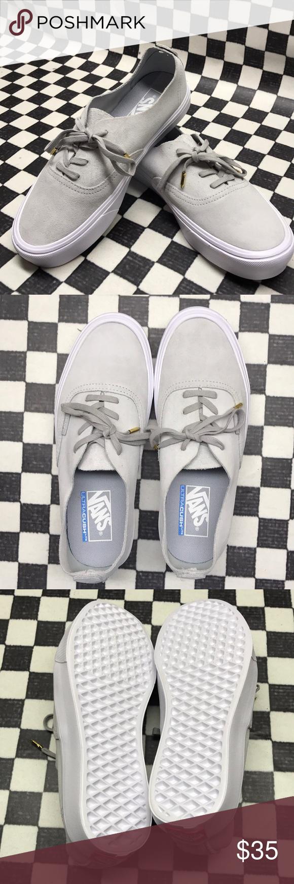 Vans authentic lite WOMENS VANS SHOES Style- authentic lite Color- light  grey  suede 20449c6c6