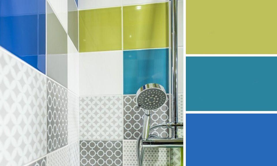 Best salle de bain avec faience bleu ideas odieardhia for Faience bleu salle de bain