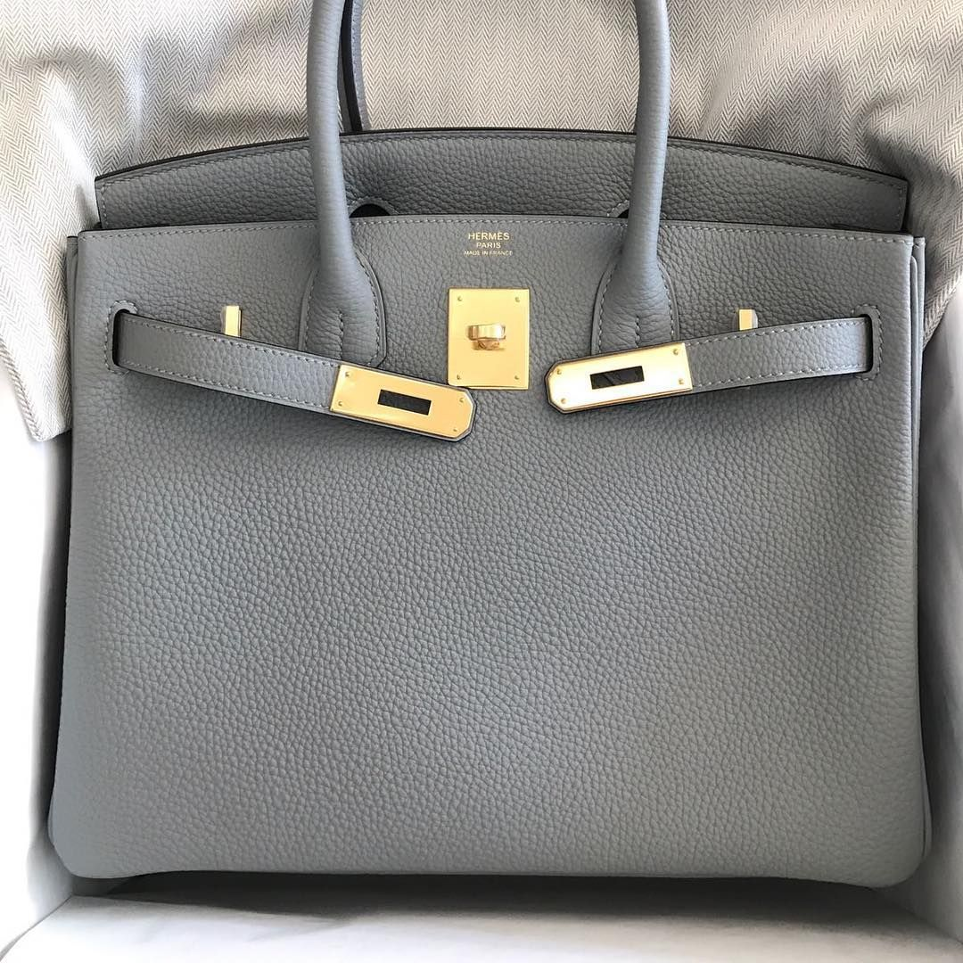 c5bd661be650 Hermès Birkin in Gris Mouette Togo leather + gold hardware ...