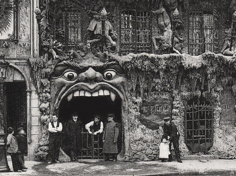 Cabaret L'enfer, Montmartre, Paris. 1900. | Lugares raros, París, Viajes a  francia